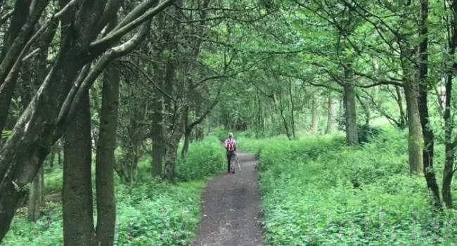 Descent down to Coate Moor