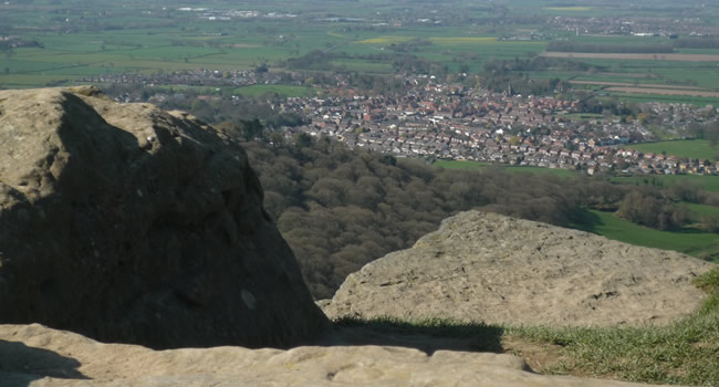 View of Great Ayton from Roseberry Topping