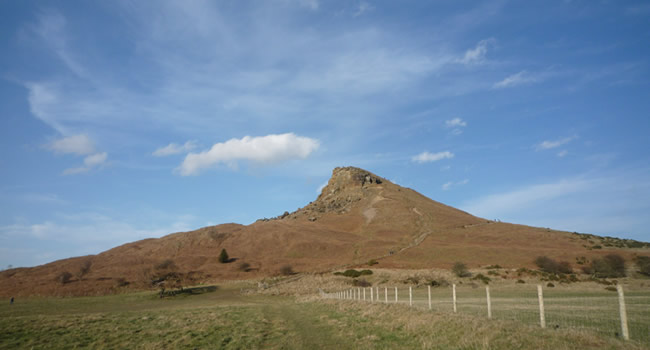 Roseberry Topping from fields