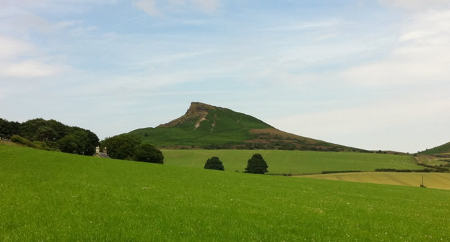 Roseberry Topping after leaving Cliff Ridge Woods