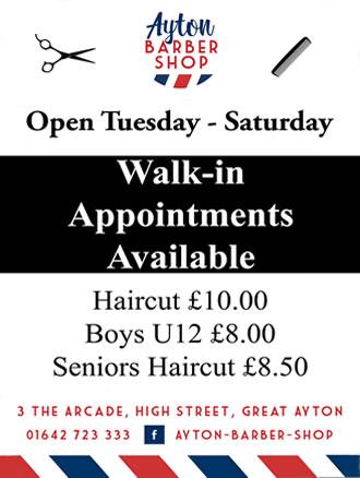 ayton barber shop great ayton price list 2021