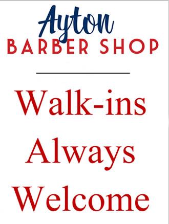 Ayton Barber Shop Great Ayton - Walk-ins always welcome