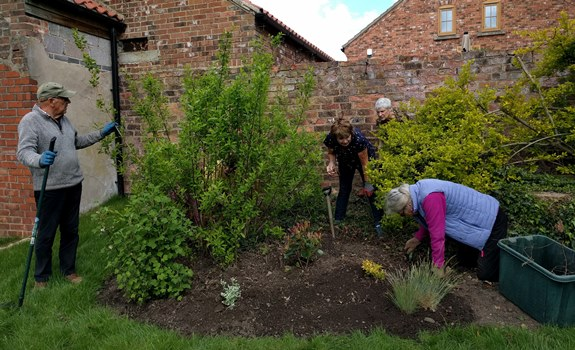 Cook Family Memorial Garden Planting