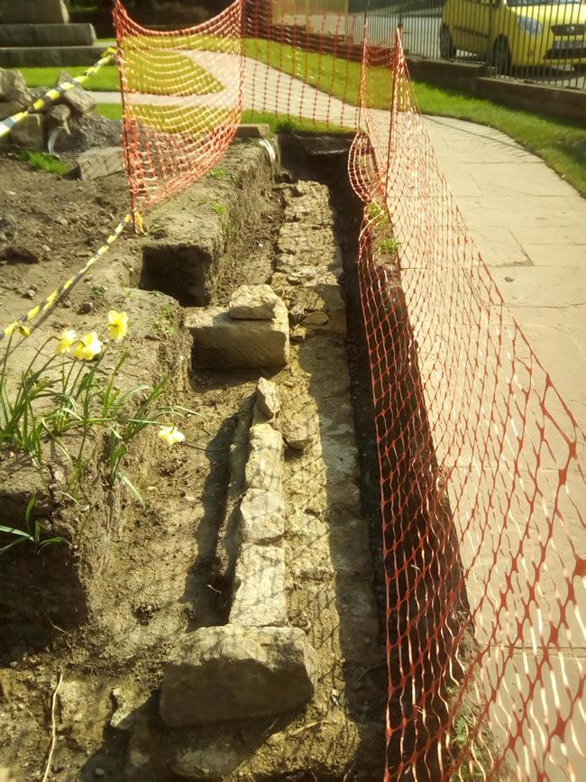 Cook Family Memorial Garden Great Ayton excavation