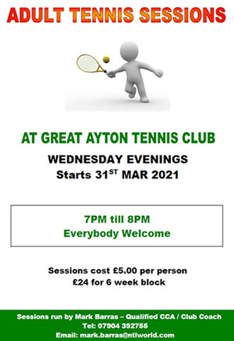 great ayton tennis club adult coaching lessons