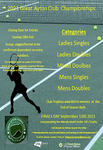 great ayton tennis club championships 2021