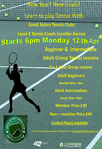 great ayton tennis club adult coaching with jen barron
