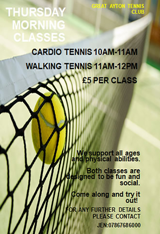 great ayton tennis club thursday drop in classes