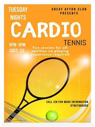tuesday evening cardio at great ayton tennis club