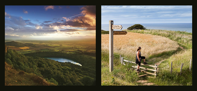 beautiful views from sutton bank and across the cleveland way
