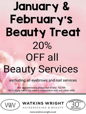 Watkins Wright January and February Beauty Offer