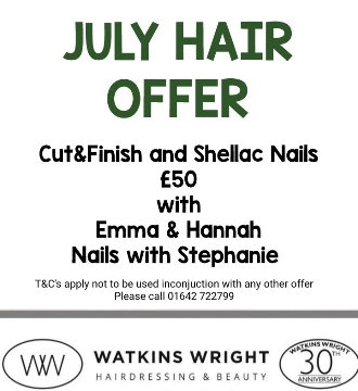 Watkins-Wright July Hair Offer