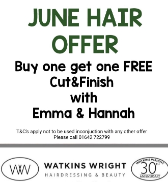 watkins wright June hair offer