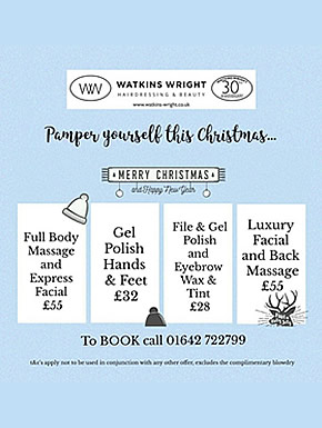 Pamper yourself this Christmas at Watkins-Wright Great Ayton
