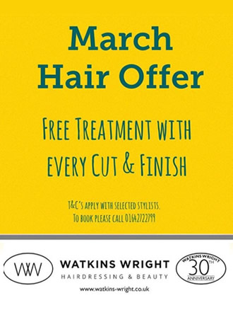 Watkins Wright March Hair Offer