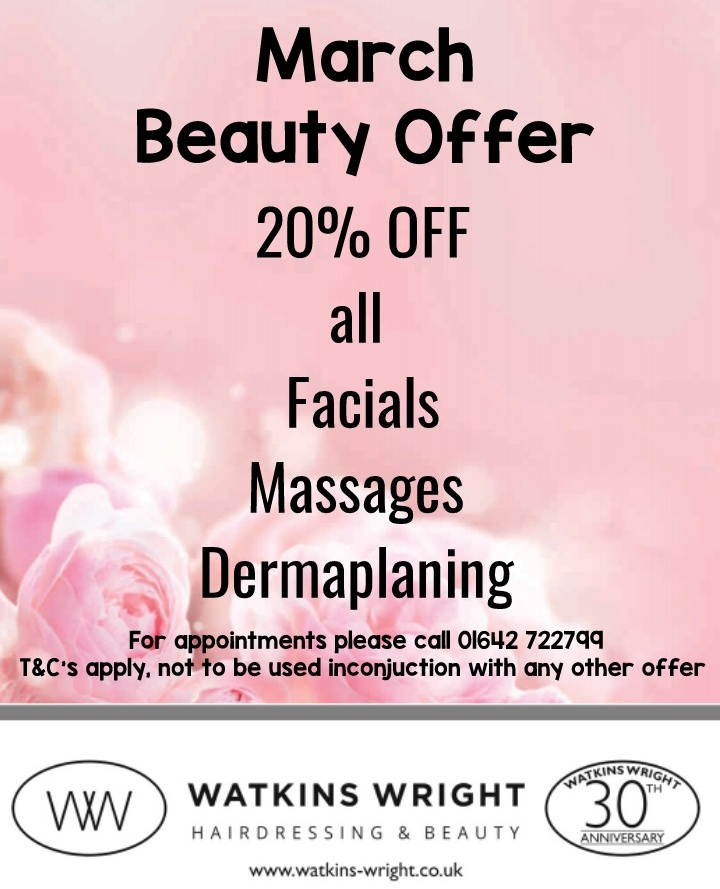 Watkins Wright March Beauty Offer