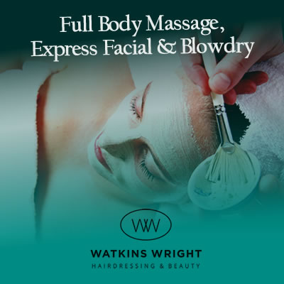 Full Body Massage, Express Facial & Blowdry eVoucher