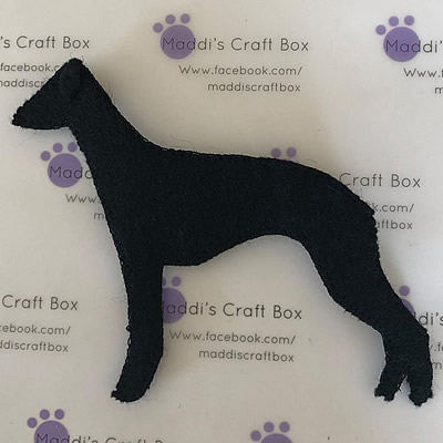 Felt Dog Black
