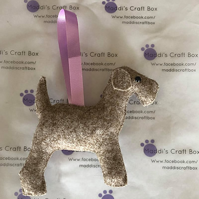 Felt Grey Hound Hanging Decoration