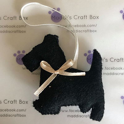 Felt Scottie Dog Hanging Decoration