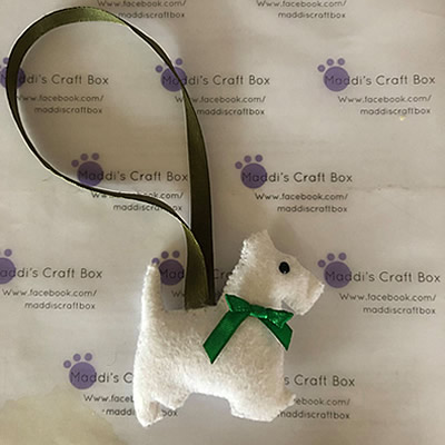 Felt Westie Hanging Decoration