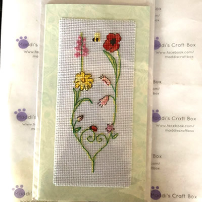 Floral Cross Stitch Greeting Card