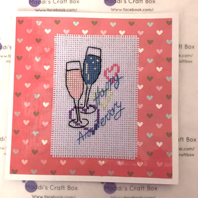 Happy Anniversary Cross Stitch Greeting Card on Great Ayton Marketplace