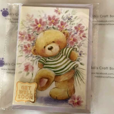 Get Well Soon Teddy Greeting Card
