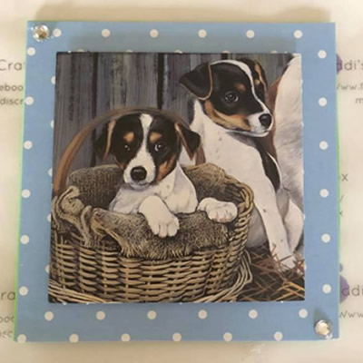 Two Beagle Pups Greeting Card