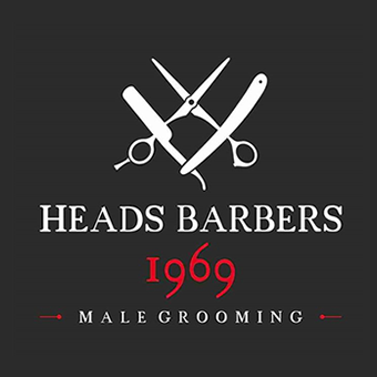 Heads Barbers 1969 logo