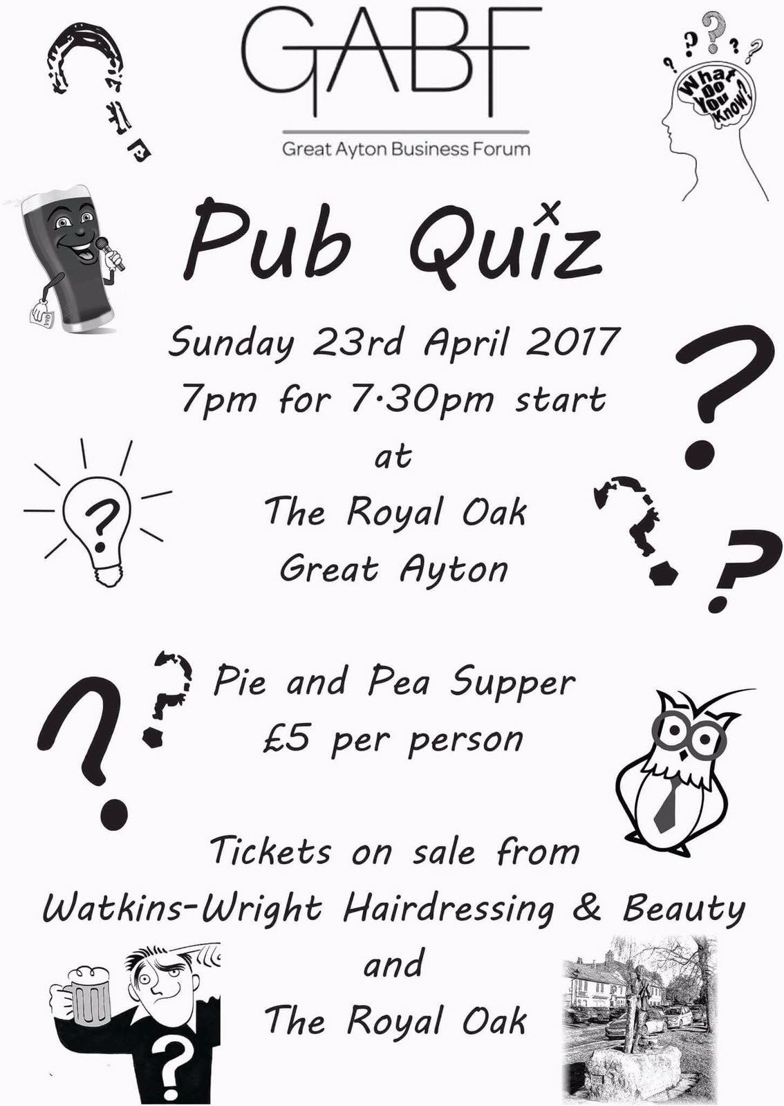 GABF Pub Quiz Poster