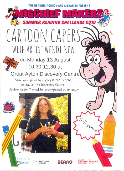 Cartoon Capers with Wendy New