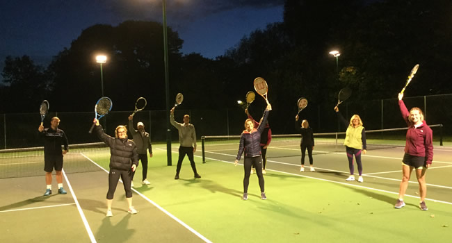 Members and coaches at Great Ayton Tennis Club