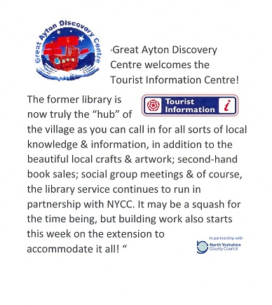 Great Ayton Discovery Centre Press Release