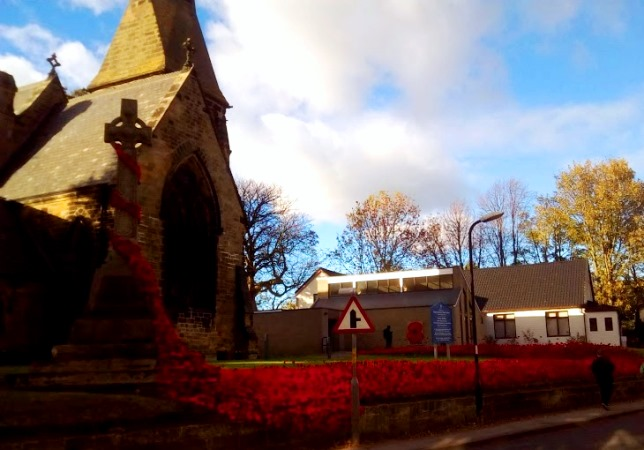 Christ Church Great Ayton poppy Memorial