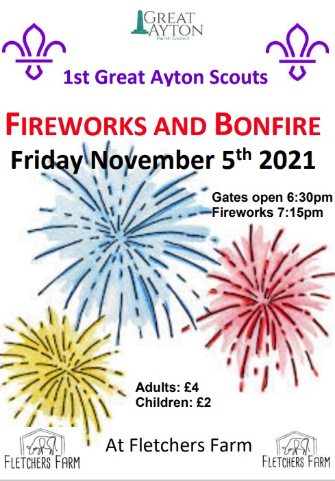 great ayton fireworks display and bonfire