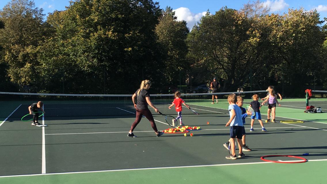 Kids coaching at Great Ayton Tennis Club