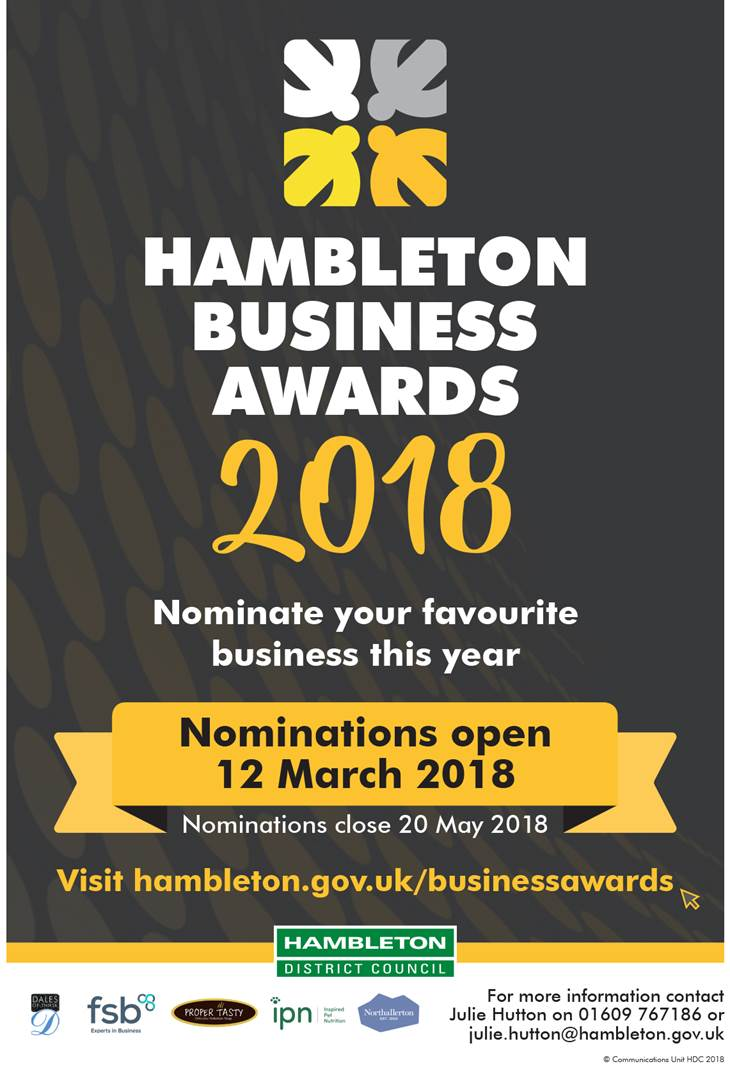 Hambleton Business Awards Poster 2018