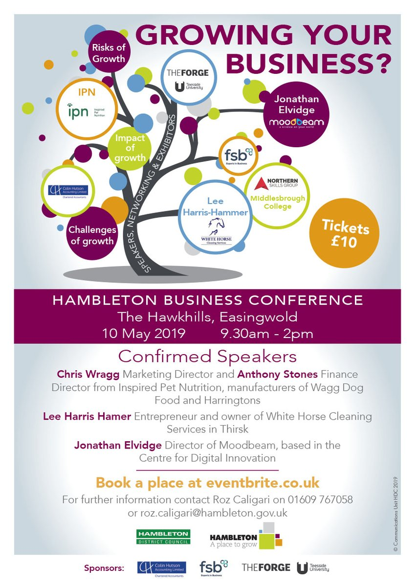 Hambleton Business Conference Poster 2019