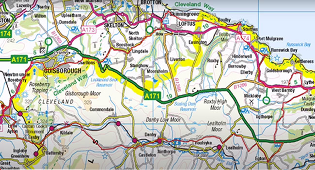 Local map North Yorkshire