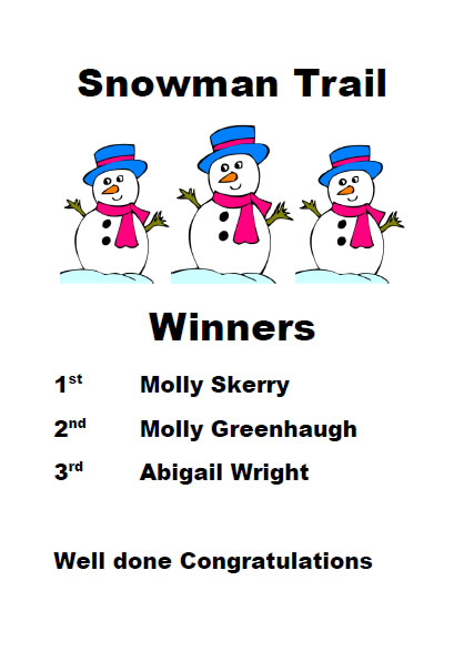 Snowman Trail Winners Poster