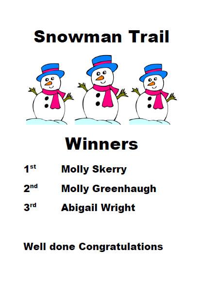 Snowman Trail Winners Poster
